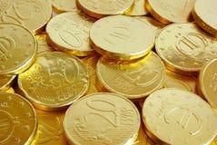 Pièces de monnaie d'or Image stock