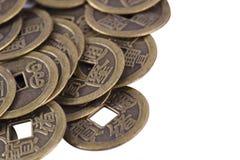 Pièces de monnaie de la Chine Images libres de droits