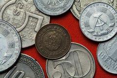 Pièces de monnaie de la République populaire de la Bulgarie Photo stock