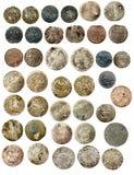Pièces de monnaie européennes médiévales XVI de C. Pologne Images libres de droits