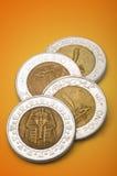 Pièces de monnaie égyptiennes (une livre) Photos stock