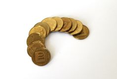 Pièces de monnaie israéliennes de modification Image libre de droits