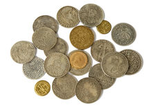 Pièces de monnaie médiévales Images libres de droits