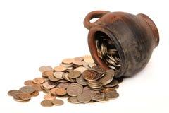 Pièces de monnaie mystérieuses Photographie stock