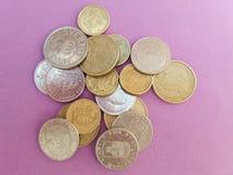 Pièces de monnaie suédoises et danoises Photo stock