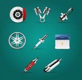 Pièces de voiture Images stock