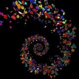 Pices del vidrio de Colores Imágenes de archivo libres de regalías