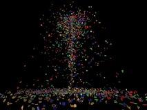 Pices del vidrio de Colores Foto de archivo libre de regalías