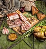 Ham And Greenery stock image