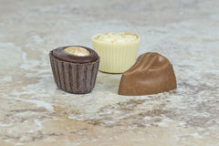 Pices of home made chocolate Royalty Free Stock Photos