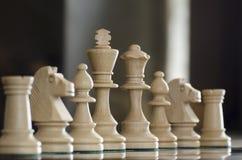 pices szachowi białe Zdjęcia Royalty Free