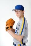 Pichet d'adolescent de base-ball image stock