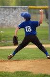 Pichet de base-ball de petite ligue Images libres de droits