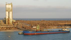 Pichilingue Port. Early morning in Pichilingue port (La Paz, Mexico Royalty Free Stock Image