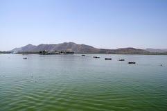 湖pichola 免版税图库摄影