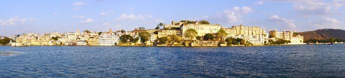 Pichola lake and Palas. Udajpur, India. Stock Image
