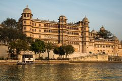 Pichola Lake, Udaipur, Rajastan. Pichola Lake is one of the most beautiful and picturesque lakes of Rajasthan, India. It is the oldest and largest artificial Stock Image