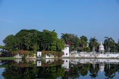 湖Pichola和Taj湖宫殿 免版税库存照片