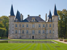 Pichon-Longueville Castle Royalty Free Stock Photos
