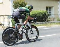 骑自行车者亚历山大Pichot -环法自行车赛2014年 免版税库存照片