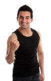 pięści mężczyzna uśmiechnięty sukces Fotografia Stock