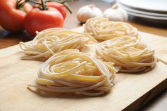 Pici Tuscan typical Tuscan pasta Royalty Free Stock Photos