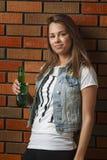 picie piwa kobieta Obrazy Stock