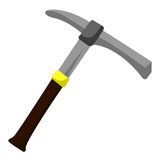 Pick axe isolated illustration Stock Photography