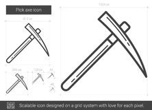 Pick axe line icon. Royalty Free Stock Images