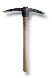 Pick Axe. White. Antique Pick Axe, worn and rusted. Isolated over white Royalty Free Stock Images