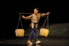Pick a basket- Jiangxi opera a steelyard Stock Photo
