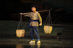 Pick a basket- Jiangxi opera a steelyard Stock Photography