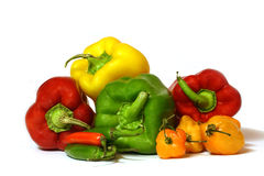 Pick a bunch of Peppers Stock Photography