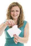 Pick a card Royalty Free Stock Photo