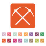 The pick icon. Pickax symbol. Flat Stock Photography