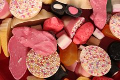 Pick and mix sweet background. Pick and mix sweets abstract background Stock Image