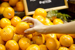 Pick orange Royalty Free Stock Photo