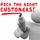 Pick the Right Customers Target Market Best Potential Audience Stock Photography