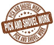 Pick and shovel work stamp Stock Images