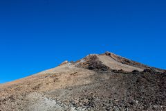 Pick of the Teide volcano in Tenerife. Pico del Teide in Tenerife, Islas Canarias, Spain. View from the down stock photos