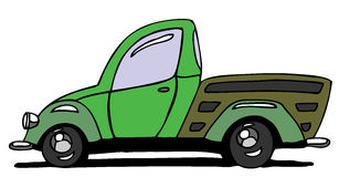 Pick-up. Hand drawn cartoon pick-up Royalty Free Stock Photo