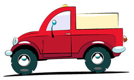 Pick-up. The red cartoon pick up Stock Photo