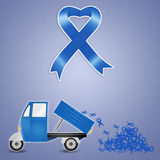 Pick-up with Blue ribbons Royalty Free Stock Photo