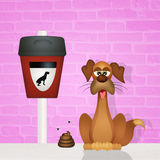 Pick up dog poop Royalty Free Stock Photography