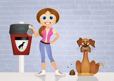 Pick up dog poop Stock Images