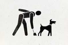 Pick up dog waste sign Stock Photo