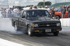 Pick up drag racing Royalty Free Stock Photos