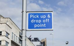 Pick up and drop off point, Station Road, Nottingham royalty free stock photography