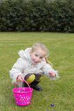 Pick up easter eggs Royalty Free Stock Photography