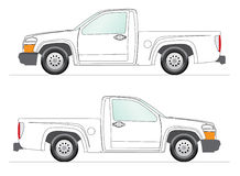 Pick-up Illustration. This is a clipart of a pick-up for layout presentation. Vectorial image Royalty Free Stock Photo